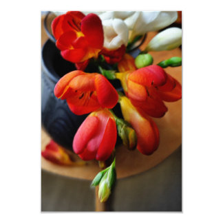 pot with freesias card
