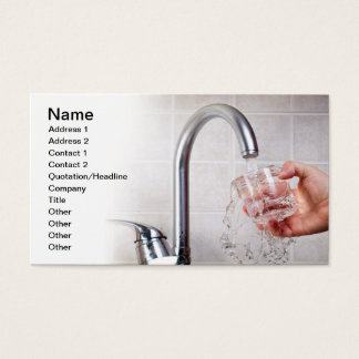 Potable water business card