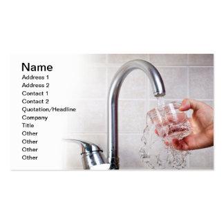 Potable water business card templates