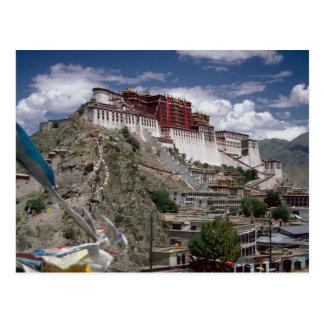 Potala con las banderas del rezo, Tíbet, China Postales