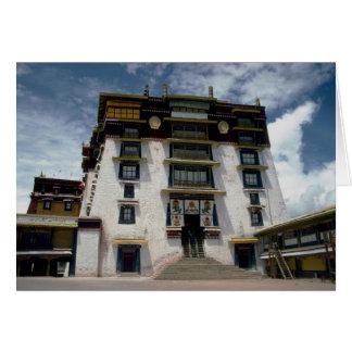 Potala inner court, Tibet, China Greeting Card