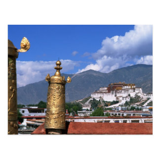 Potala Palace in Lhasa, Tibet taken from Postcard
