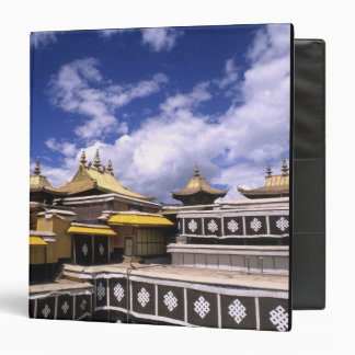 Potala Palace inside with steeples at the home 3 Ring Binder