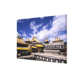 Potala Palace inside with steeples at the home Canvas Print