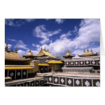 Potala Palace inside with steeples at the home Card