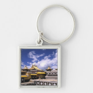 Potala Palace inside with steeples at the home Key Chain