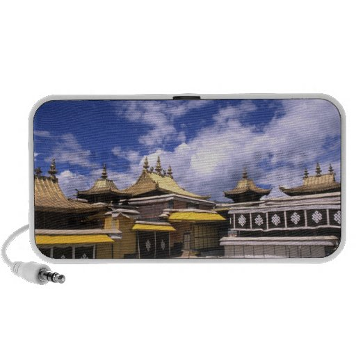Potala Palace inside with steeples at the home Portable Speaker