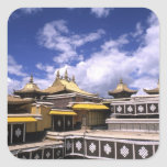 Potala Palace inside with steeples at the home Square Sticker