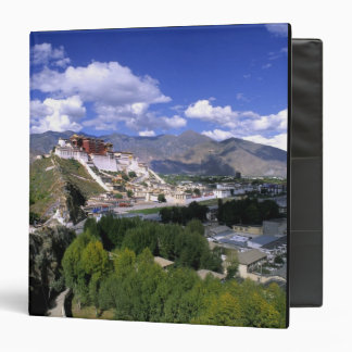 Potala Palace on mountain range from aher 3 Ring Binder