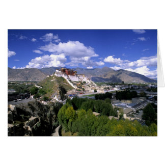 Potala Palace on mountain range from aher Card