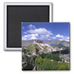Potala Palace on mountain range from aher Magnets