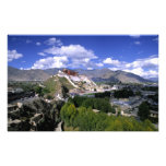 Potala Palace on mountain range from aher Photographic Print