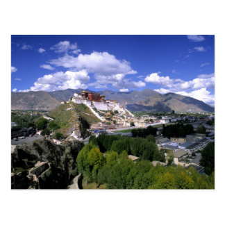Potala Palace on mountain range from aher Postcard