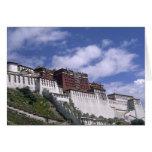 Potala Palace on mountain the home of the Dalai Card