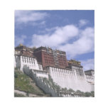 Potala Palace on mountain the home of the Dalai Note Pad