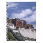 Potala Palace on mountain the home of the Dalai Notebook