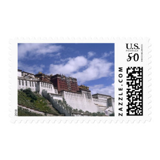 Potala Palace on mountain the home of the Dalai Postage