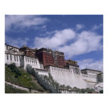 Potala Palace on mountain the home of the Dalai Posters