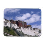 Potala Palace on mountain the home of the Dalai Rectangle Magnets