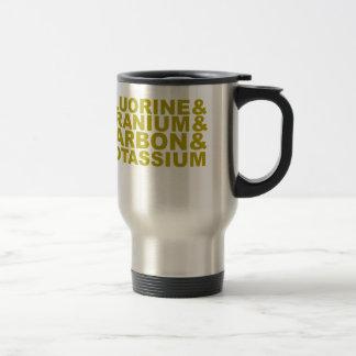 Potasio de uranio Tshirt.png del carbono del flúor Taza De Café