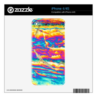 Potassium hydroxide under a microscope skins for the iPhone 4