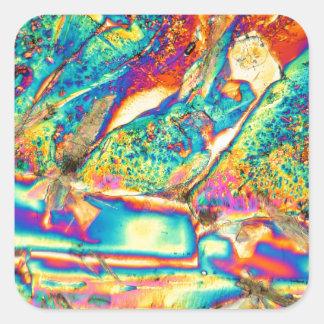 Potassium hydroxide under the microscope. square sticker