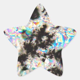 Potassium sulfate under the microscope star sticker