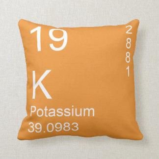 Potassium Throw Pillow