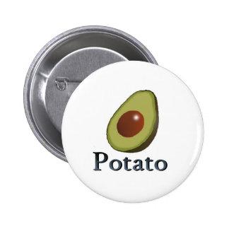 Potato 2 Inch Round Button