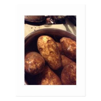 Potato Alien Face And Friends Postcard