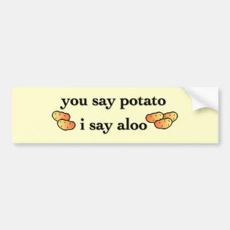 Potato Aloo Bumper Sticker