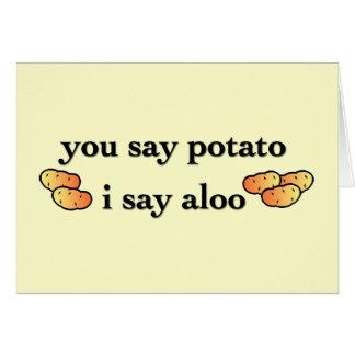 Potato Aloo Card