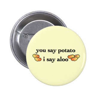 Potato Aloo Pinback Button