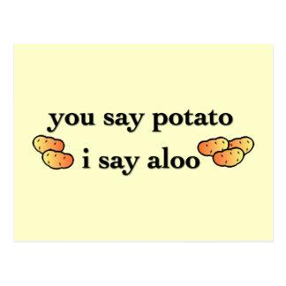 Potato Aloo Postcard