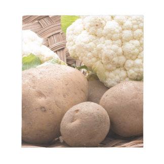 Potato and cauliflower notepad