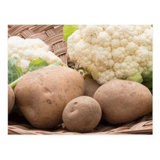 Potato and cauliflower postcard