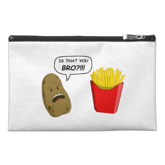 potato and fries travel accessory bags