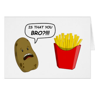 potato and fries cards