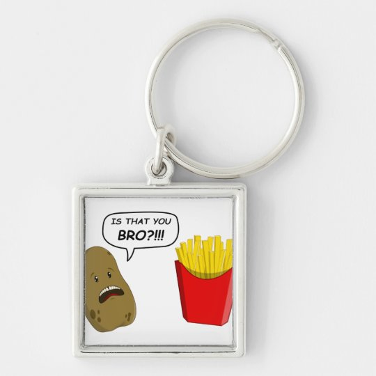 potato and fries keychain