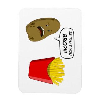 potato and fries vinyl magnet
