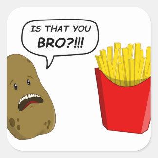 potato and fries sticker