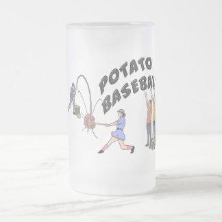 Potato Baseball Frosted Glass Beer Mug