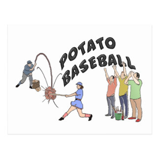 Potato Baseball Postcard
