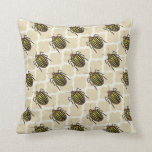 Potato Beetle Pattern Art Pillow