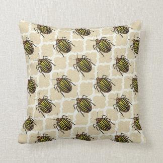 Potato Beetle Pattern Art Throw Pillow