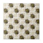 Potato Beetle Pattern Art Tile