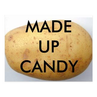 Potato Candy postcard art form