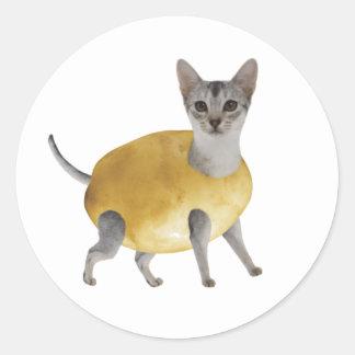 Potato Cat Classic Round Sticker