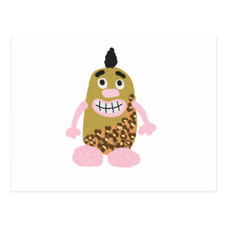Potato cavemen postcard