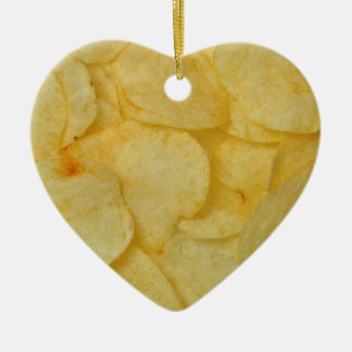 Potato Chip Ceramic Ornament